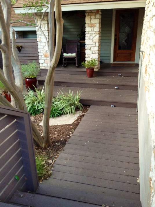 After 2013- entry path / porch